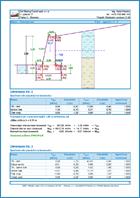 GEO5 Ściana oporowa - Przykład raportu z programu