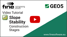 GEO5 Construction Stages in Slope Stability