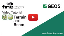 GEO5 Terrain and Beam